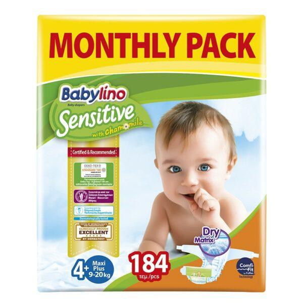 Babylino Πάνες No4+ Monthly Pack 184 Τεμάχια