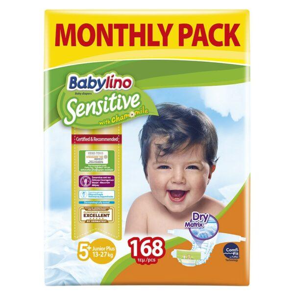 Babylino Πάνες No5+ Monthly Pack 168 Τεμάχια
