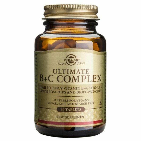 Solgar Ultimate Vitamins B+C Complex 30 Tabs