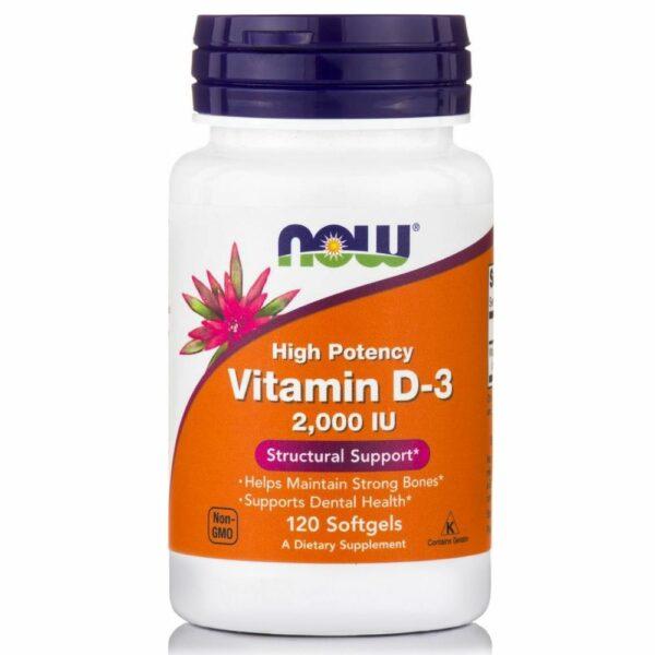 Now Foods Vitamin D-3 (2000 Iu) - (120 Softgels)