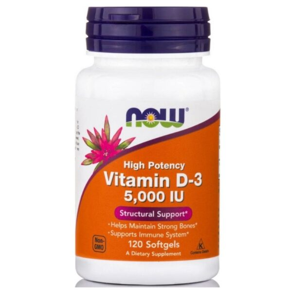 Now Foods Vitamin D-3 (5000 Iu) - (120 Softgels)