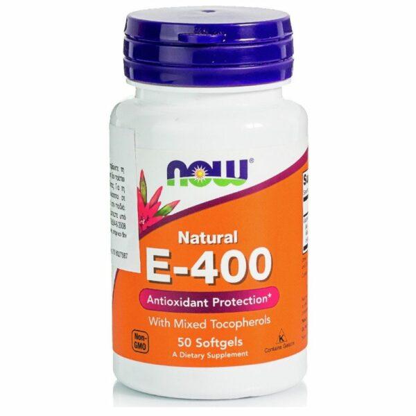 Now Foods E-400 Iu, Mixed Tocopherols / Unsterified - (50 Softgels)