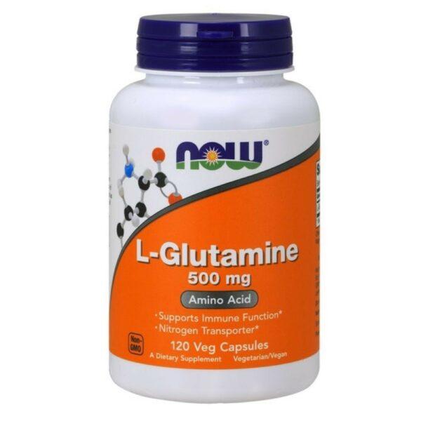 Now Foods L-Glutamine 500 mg - (120 Caps)