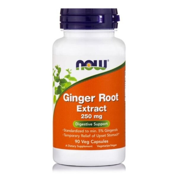 Now Foods Ginger Root Extract 250 mg - (90 Vcaps)