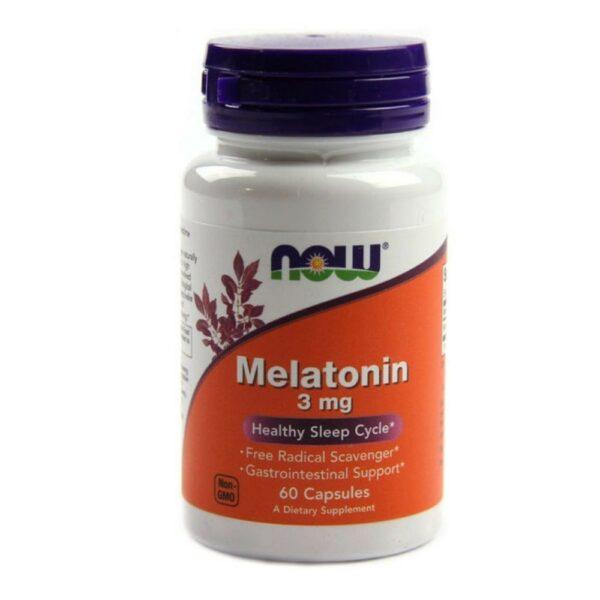 Now Foods Melatonin 3 mg - (60 Caps)
