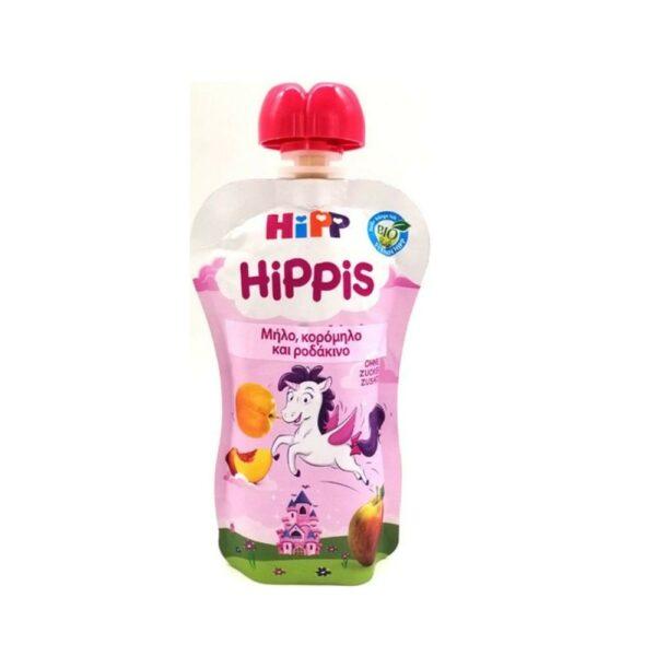Hipp Hippis Φρουτοπολτός Mονόκερος Με Μήλο, Κορόμηλο, Ροδάκινο 12+ Μηνών 100gr