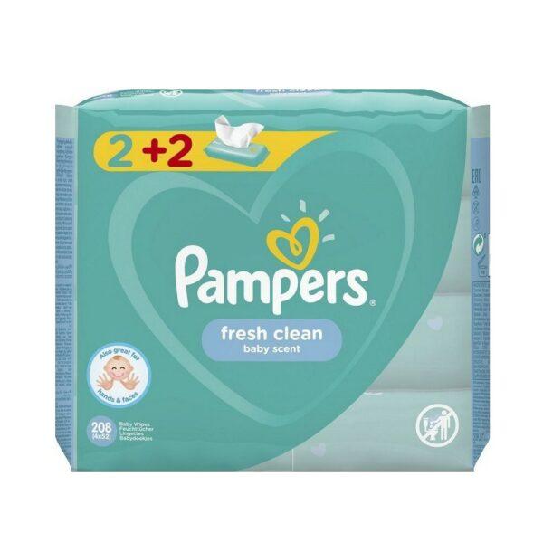 Pampers Wipes Fresh Τεμαχια 4x52