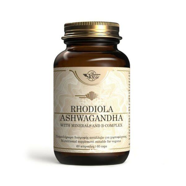 SKY PREMIUM LIFE Rhodiola Ashwagandha 60 Κάψουλες