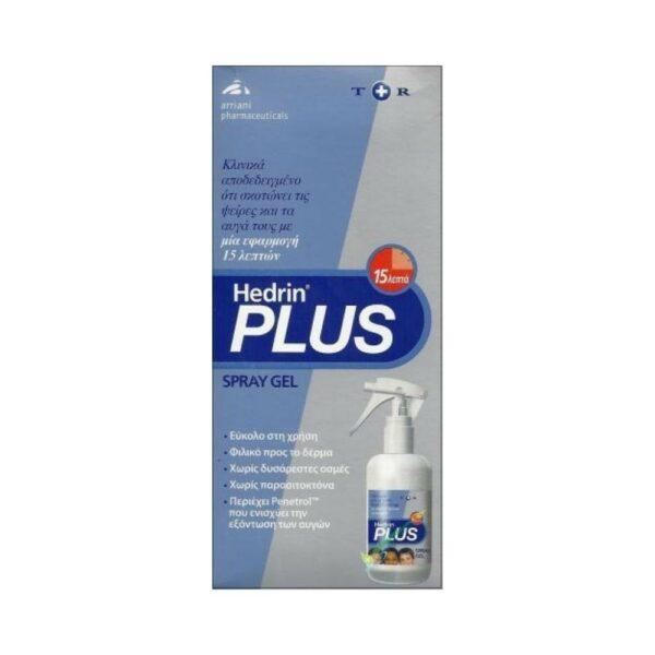 Hedrin Plus Spray Gel Αντιφθειρικό Τζελ 100ml