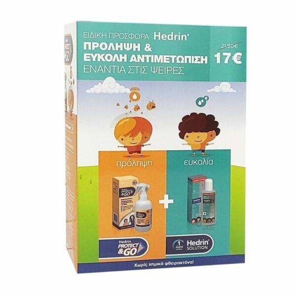 Hedrin Protect & Go Αντιφθειρικό Spray Conditioner 200ml & Lotion 100ml