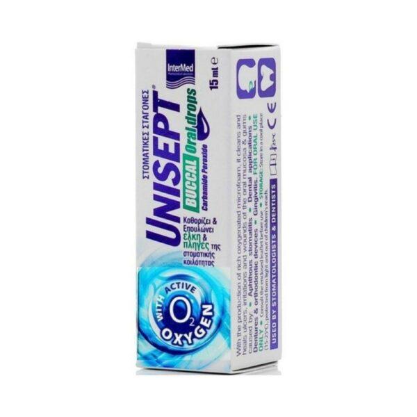 Intermed Unisept Buccal Drops, Σταγόνες Στόματος 15 ml