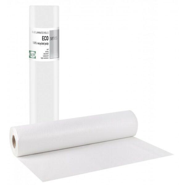 Bournas Medicals Eco Standard Εξεταστικό Ρολό Πλαστικό + Χαρτί ECO 58cm x 50m 1 Τεμάχιο