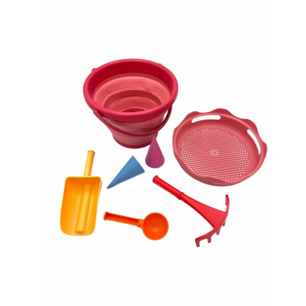 CompacToys 7in1 Sand Toys Pink-2