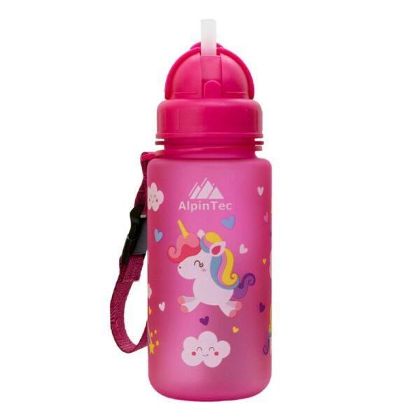 AlpineTec Παγούρι Kids 400Ml Με Καλαμάκι Pink Pony