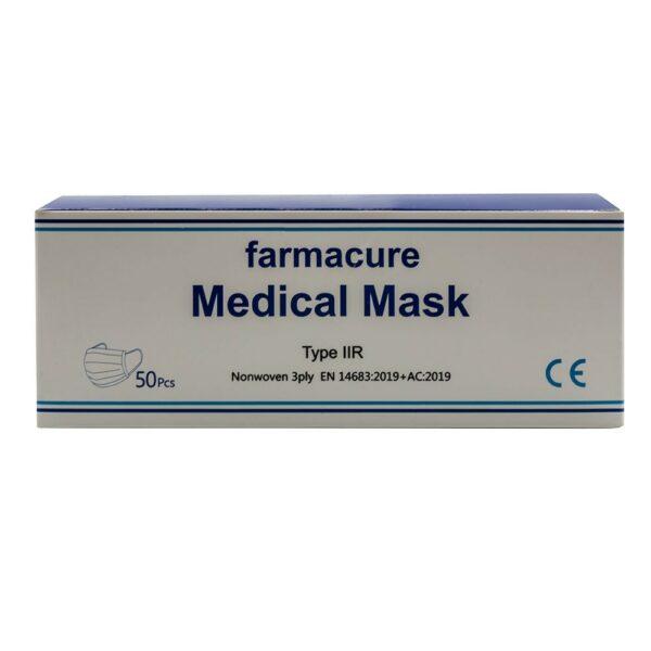 Farmacure Ιατρικές Μάσκες 3Ply Με Λάστιχο 50 Τεμάχια