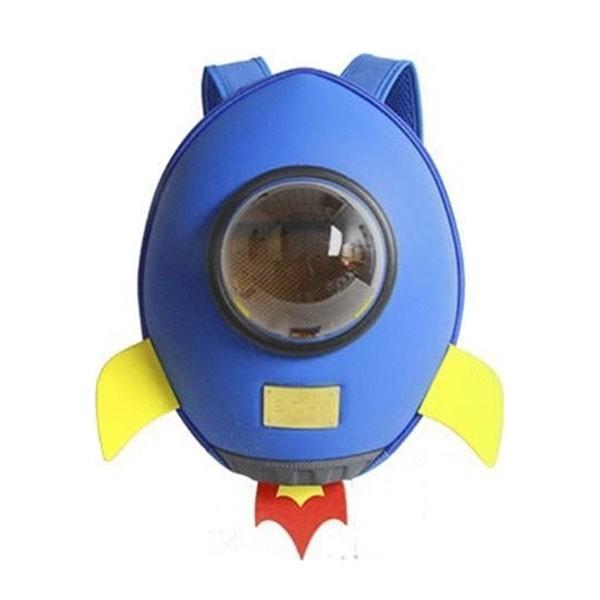Supercute Πύραυλος Σχολική Τσάντα Πλάτης Νηπιαγωγείου Μπλε