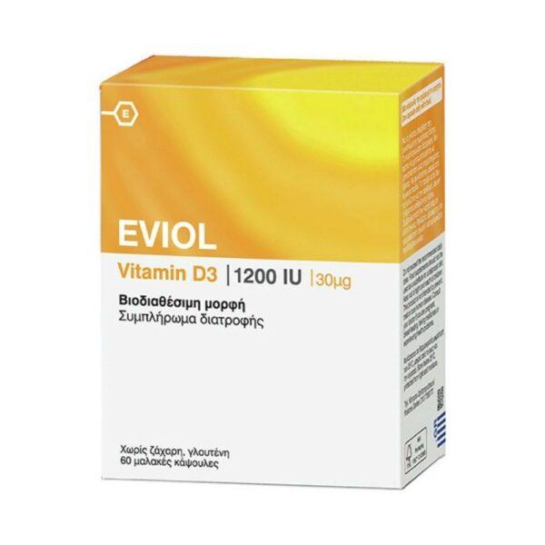 Eviol Vitamin D3 1200IU 60Caps