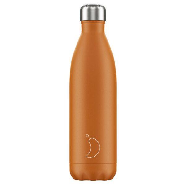 Chilly's Ανοξείδωτο Μπουκάλι Θερμός Matte Burnt Orange 500ml