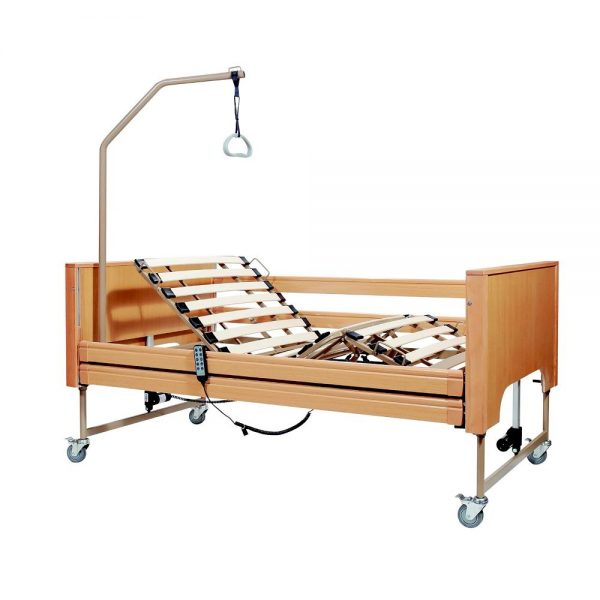 Mobiak 0803151 Ηλεκτροκίνητο Νοσοκομειακό Κρεβάτι Από Οξιά Με Αναρτήρα
