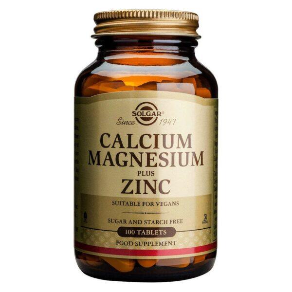 Solgar Calcium Magnesium Plus Zinc 100 Ταμπλέτες
