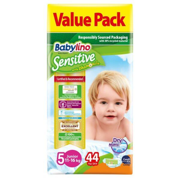 Babylino Sensitive Pants No5 (11-16kg) Value Pack 44 Τεμάχια