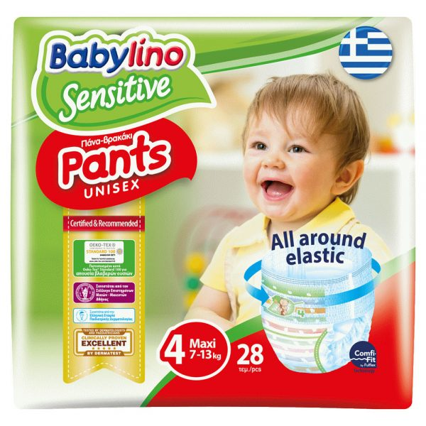 Babylino Sensitive Pants No4 (7-13kg) 28 Τεμάχια