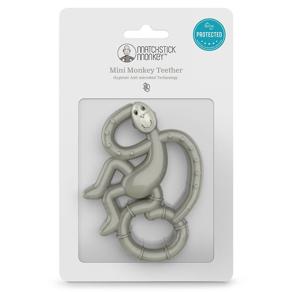 Matchstick Monkey Mini Monkey Teether 0+ Mηνών Grey