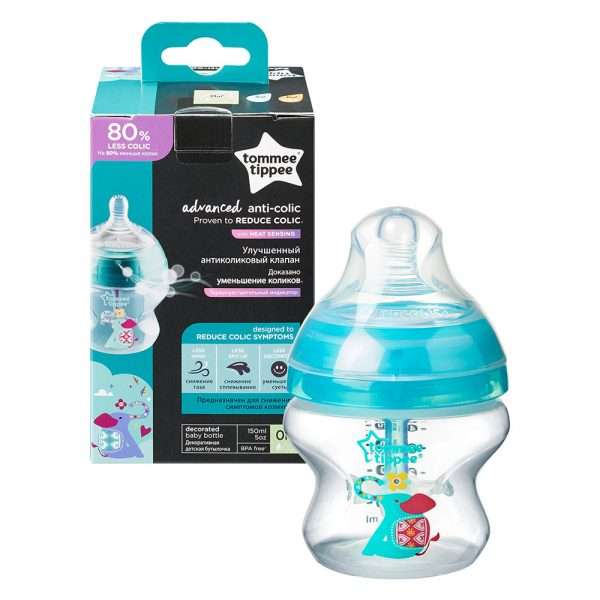 Tommee Tippee Advanced Anti-Colic Turquoise 0m+ 150ml