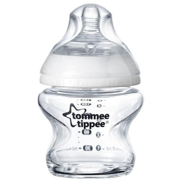 Tommee Tippee Γυάλινο Μπιμπερό Closer to Nature Με Θηλή Σιλικόνης CTN 0m+ 150ml