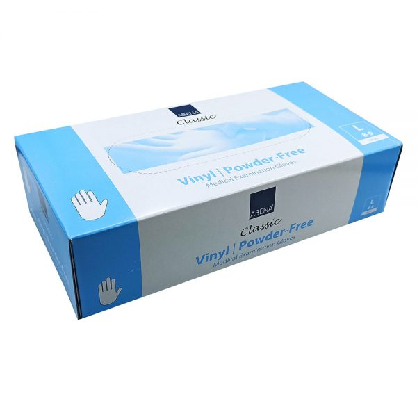 Abena Γάντια Βινιλίου Χωρίς Πούδρα Διάφανα 100 Τεμάχια