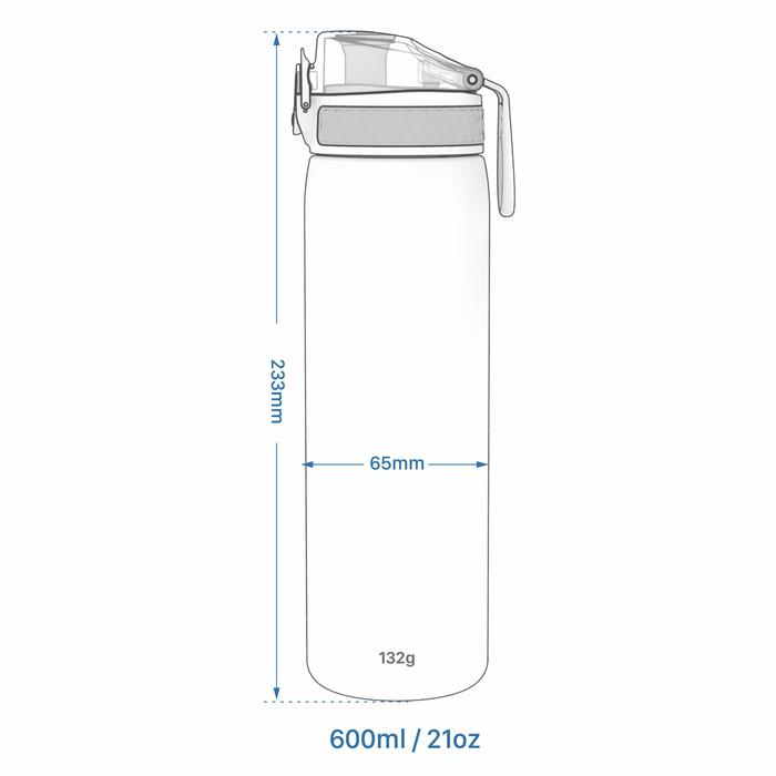 Ion8 Πλαστικό Παγούρι Slim 600ml Δράκοι