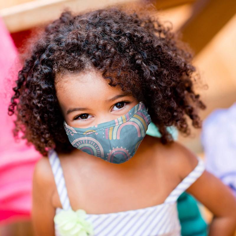 Stephen Joseph Παιδική Μάσκα Με Τσαντάκι 3-6 Ετών Rainbow 1 Τεμάχιο
