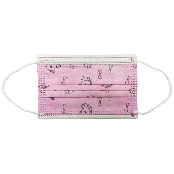 Παιδική Μάσκα Προστασίας Type IIR Ροζ Με Σχέδια 10 Τεμάχια