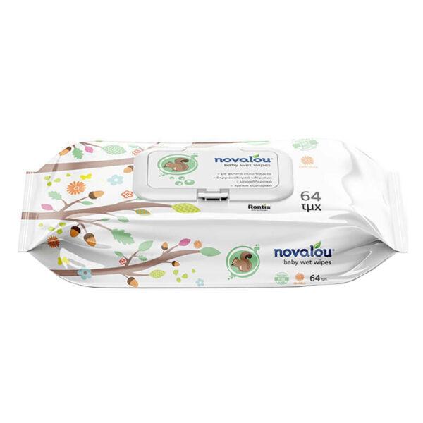 Novalou Baby Wet Wipes 64 Τεμάχια