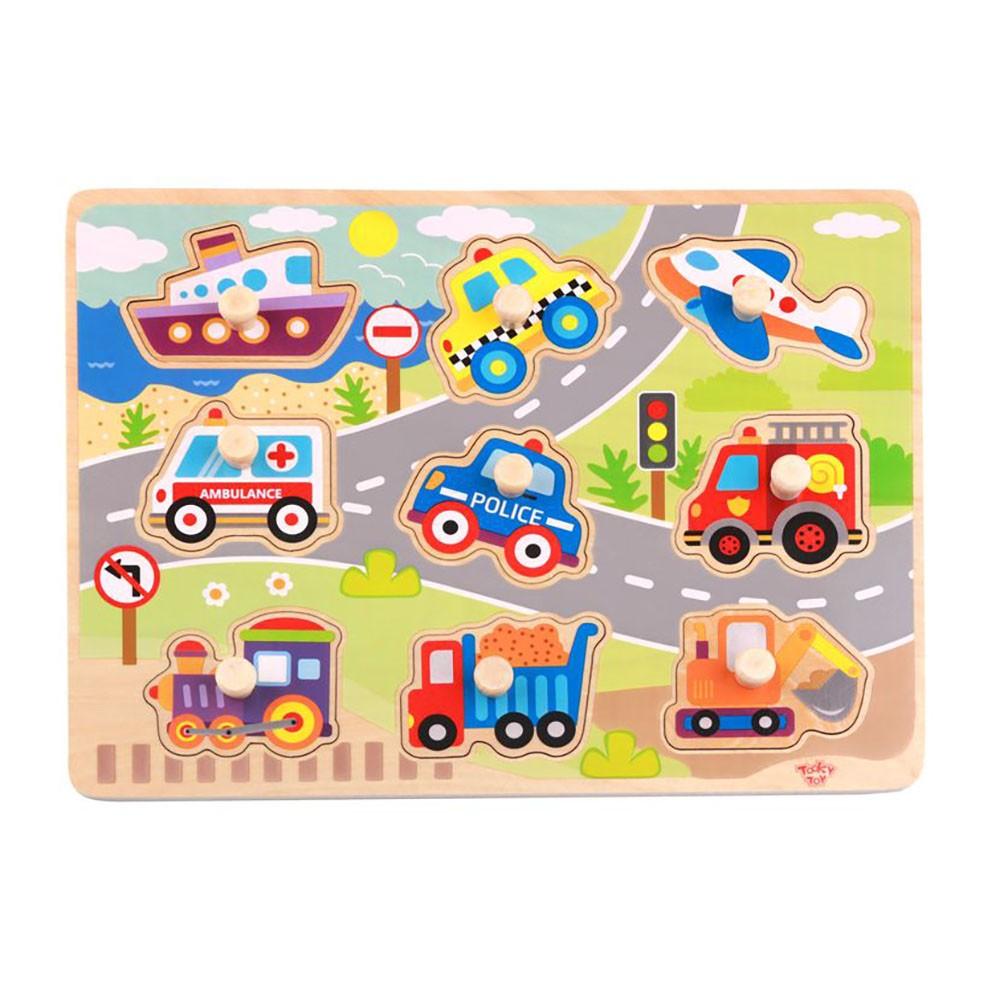 Tooky Toy TY860 Vehicle Puzzle