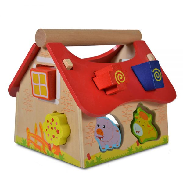 Moni 2044 Wooden Educational House With Animals