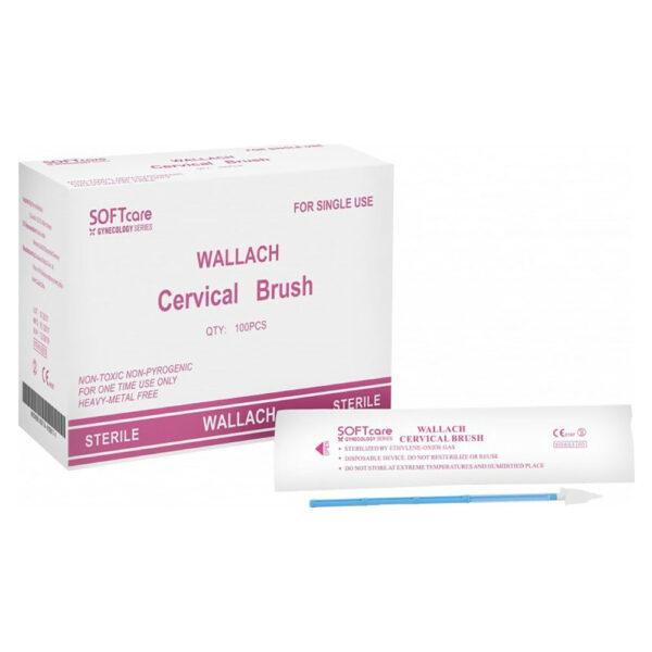 Soft Care Test-Pap Βουρτσάκια Αποστειρωμένα Τύπου Wallach 100 Τεμάχια
