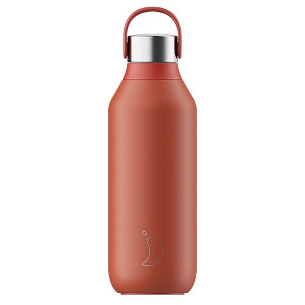 Chilly's Series 2 Ανοξείδωτο Μπουκάλι Θερμός Maple Red 500ml