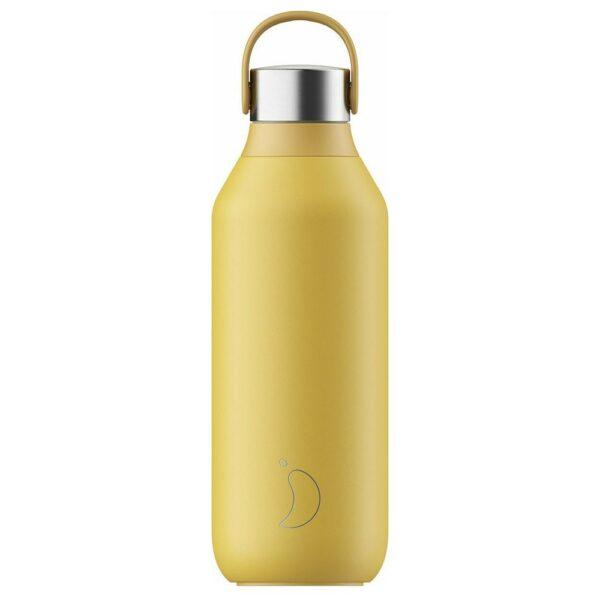 Chilly's Series 2 Ανοξείδωτο Μπουκάλι Θερμός Pollen Yellow 500ml